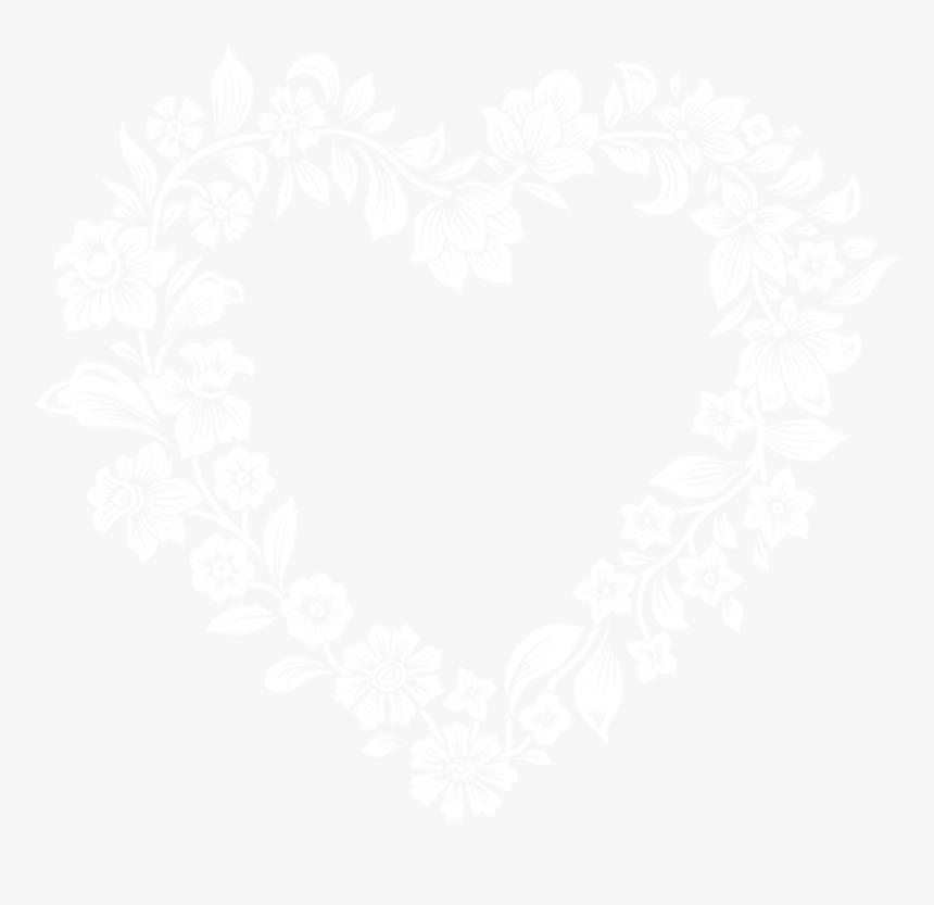Free Png White Floral Border Frame Png Images Transparent - White Floral Frame Png, Png Download, Free Download