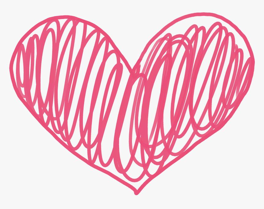 Doodle Hearts Png - Transparent Background Doodle Heart Clip Art, Png Download, Free Download