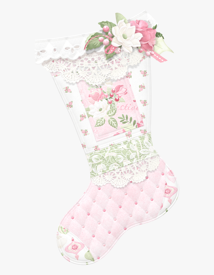 Stocking Maryfran Png Natal - Pink Baby Christmas Stocking Clipart, Transparent Png, Free Download