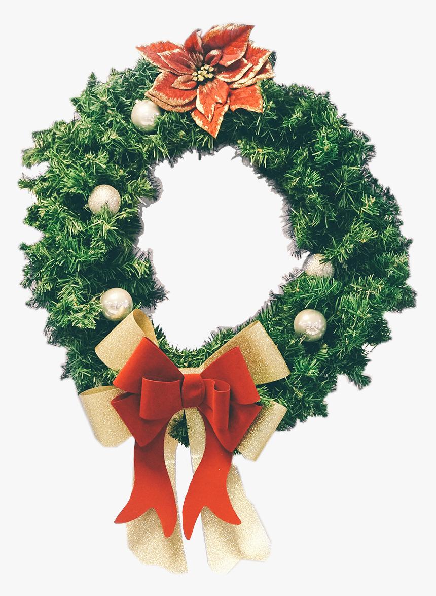 #christmas #festive #wreath #sticker #winter #red #green - Ukrasna Traka Za Novu Godinu, HD Png Download, Free Download
