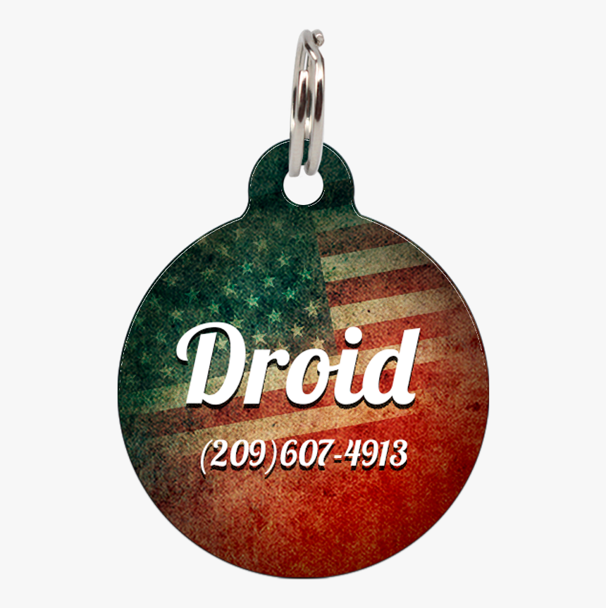 "Vintage American Flag Patriotic Dog Id Tag For Pets""  - Pet Tag, HD Png Download, Free Download"