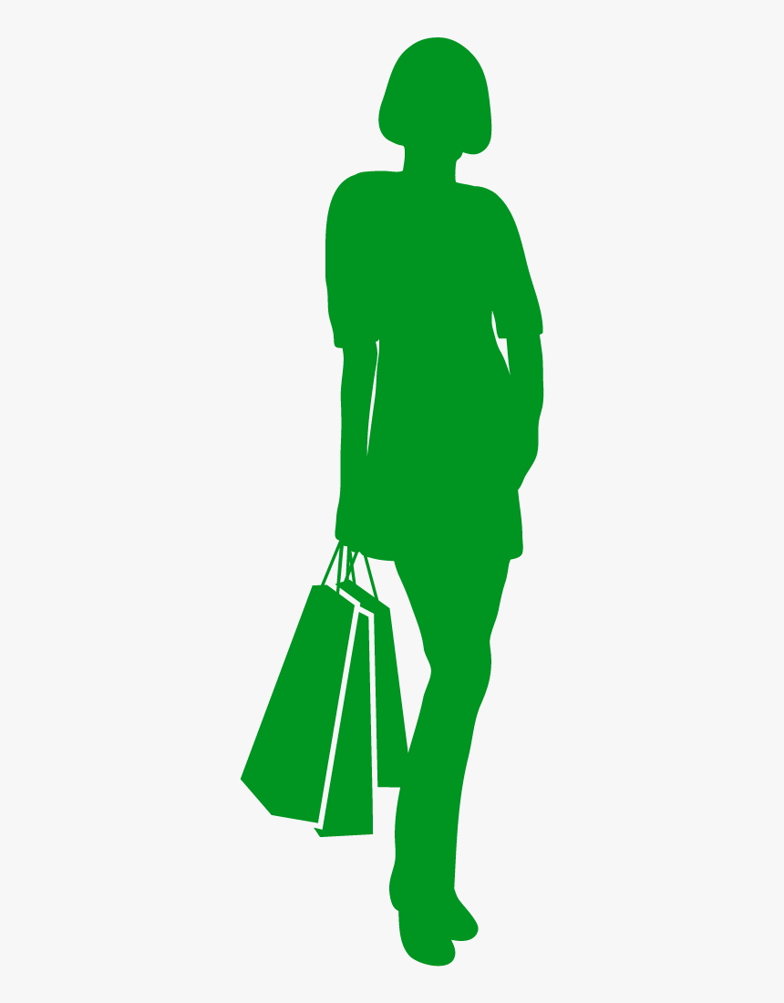 Silhouette Drawing Woman Cartoon - Illustration, HD Png Download, Free Download