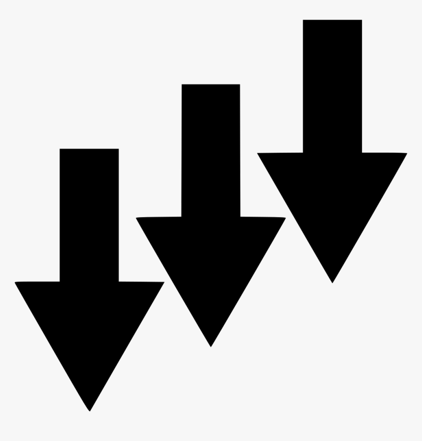 Arrows Down Stock - Stock Down Icon Png, Transparent Png, Free Download