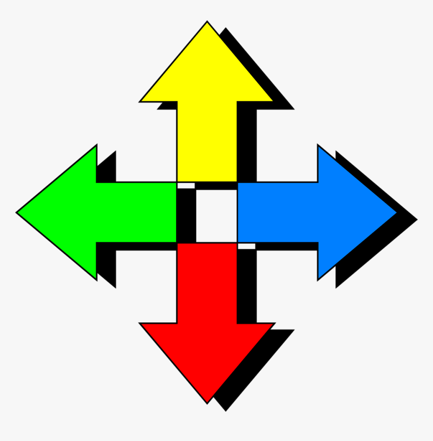 Arrow Clip Art - Arrows In 4 Directions, HD Png Download, Free Download