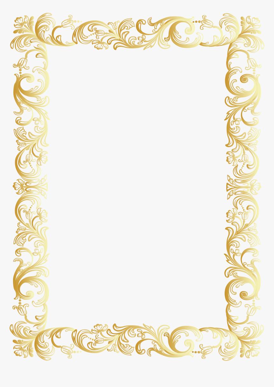 Vintage Border Frame Clip Art Png Image Png Download - Gold Vintage Border Png, Transparent Png, Free Download