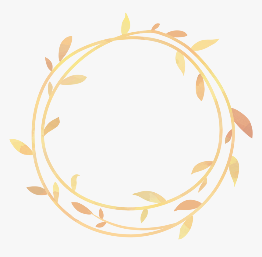 Gold Leaf Border Circle, HD Png Download, Free Download