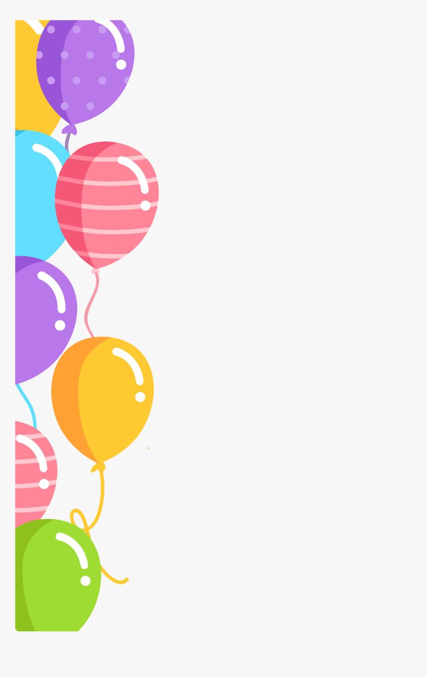 Transparent Balloon Vector Png Birthday Border Design Png Png Download Kindpng Elegant happy birthday balloon background vector. transparent balloon vector png