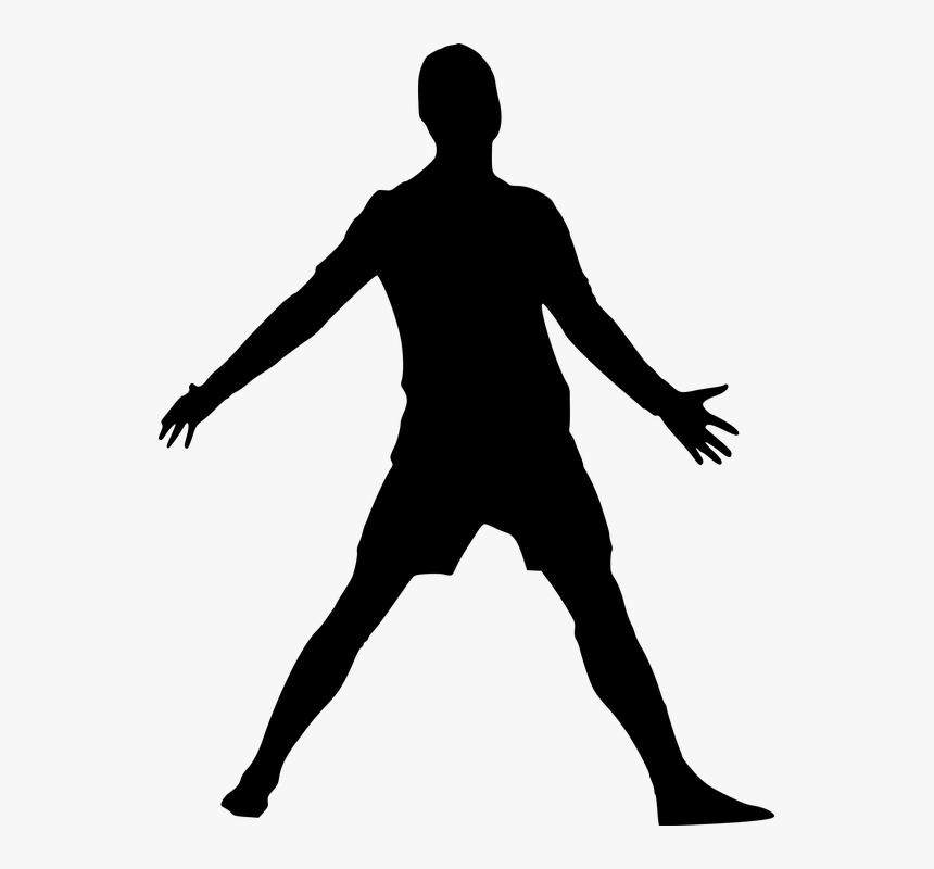 Silueta, Fútbol, Hombre, El Deporte, Ganadora - Elvis Presley Silueta Png, Transparent Png, Free Download