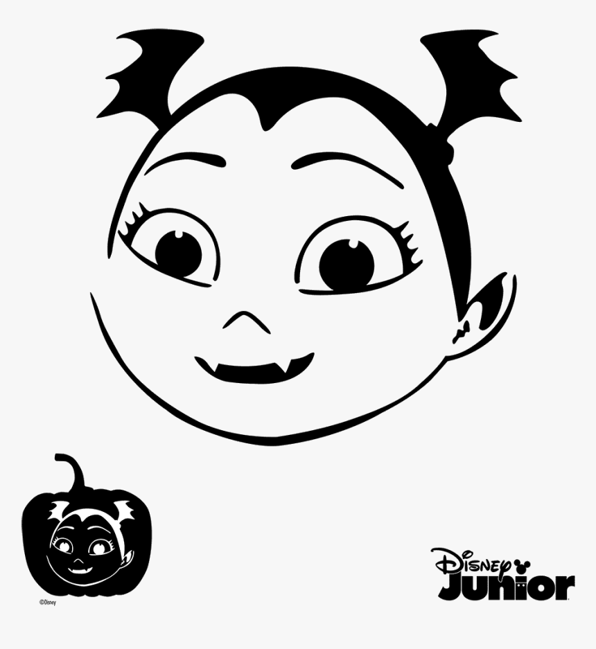 Pumpkin Stencils Vampirina - Vampirina Pumpkin Carving Stencils, HD Png Download, Free Download