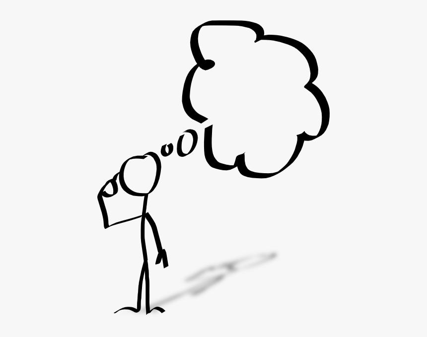 Man Thinking Download Best - Person With Thought Bubble, HD Png Download -  kindpng