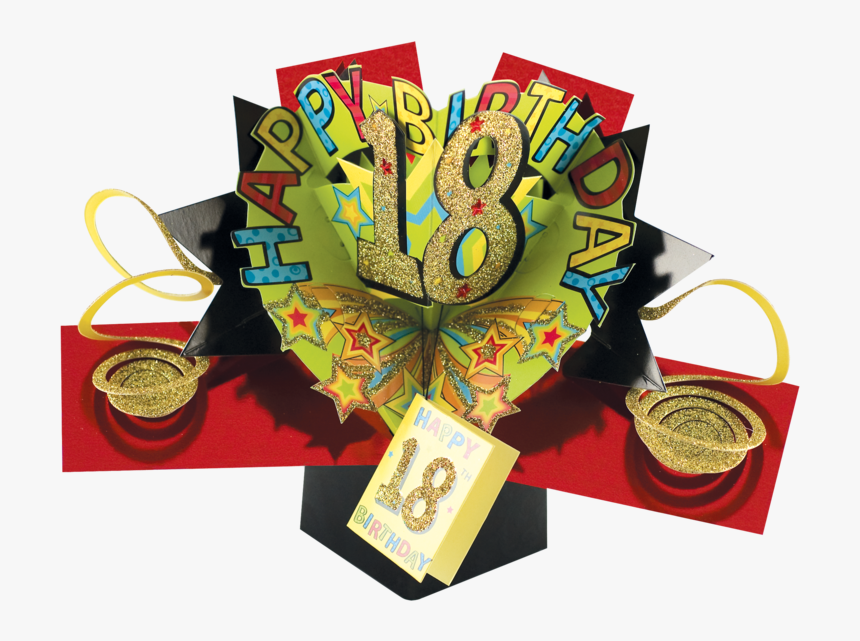 Pop Up 18th Birthday Cards, HD Png Download, Free Download