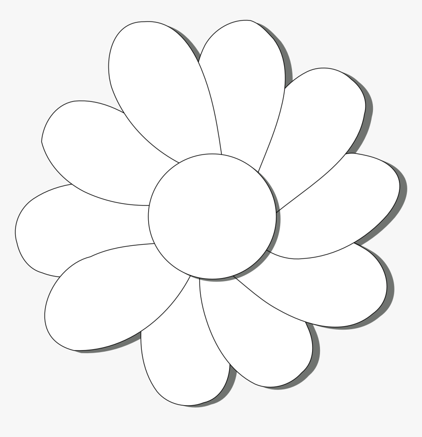 Black And White Floral Wallpaper Black And White Flower - Circle, HD Png Download, Free Download