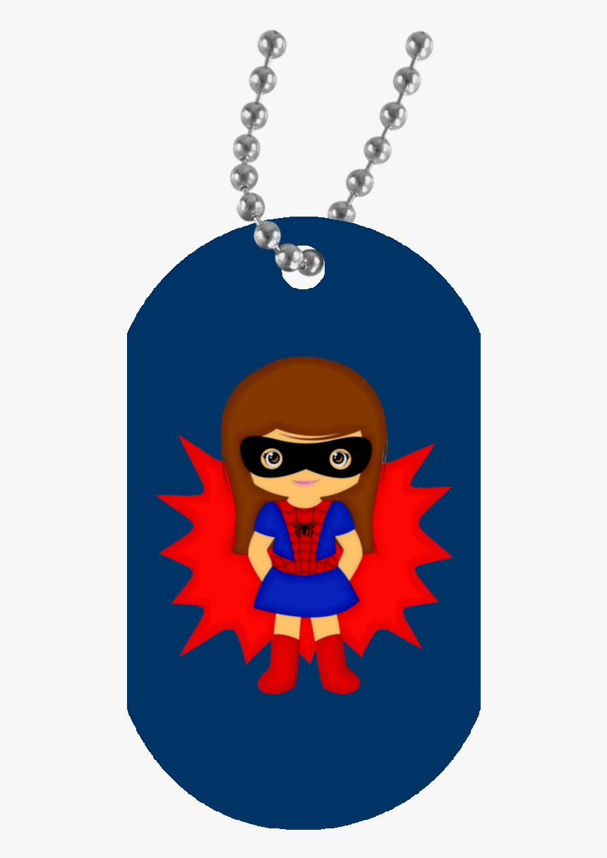 Spider Girl Un5588 White Dog Tag - Navy Dog Tag Clip Art, HD Png Download, Free Download