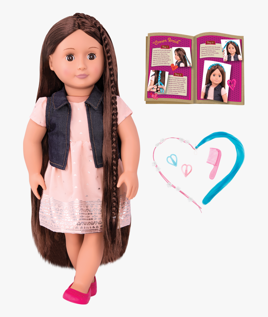 Bd31204 New Kaelyn Hair Play Doll All Components - Our Generation Hair Play Doll Kaelyn, HD Png Download, Free Download