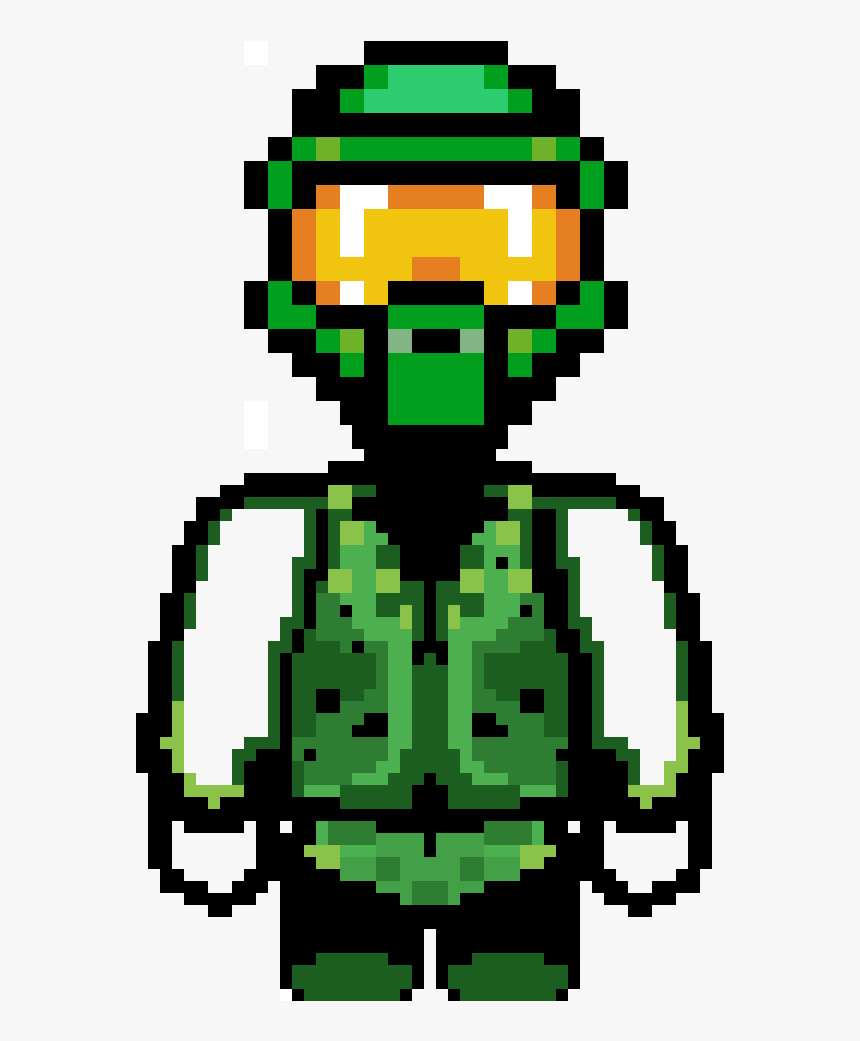 Transparent Master Chief Png - Pixel Art Master Chief Halo, Png Download, Free Download