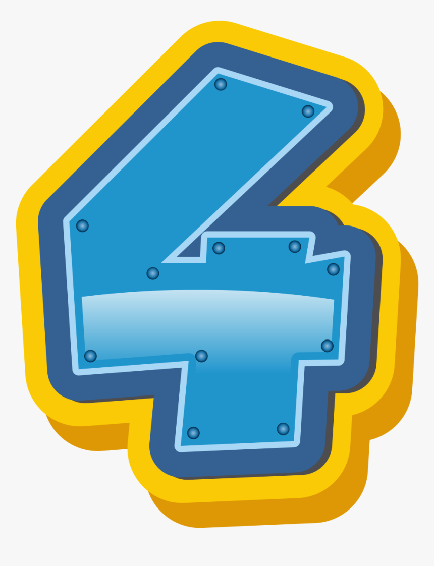 Transparent Number 80 Clipart - Paw Patrol Number 4, HD Png Download, Free Download