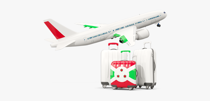 Luggage With Airplane - Indian Flag Airplane Png, Transparent Png, Free Download