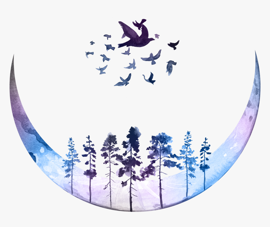 Purple Moon Png, Transparent Png, Free Download