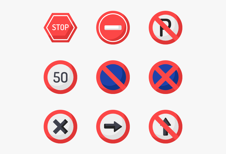 Road Signs Icons Png, Transparent Png, Free Download