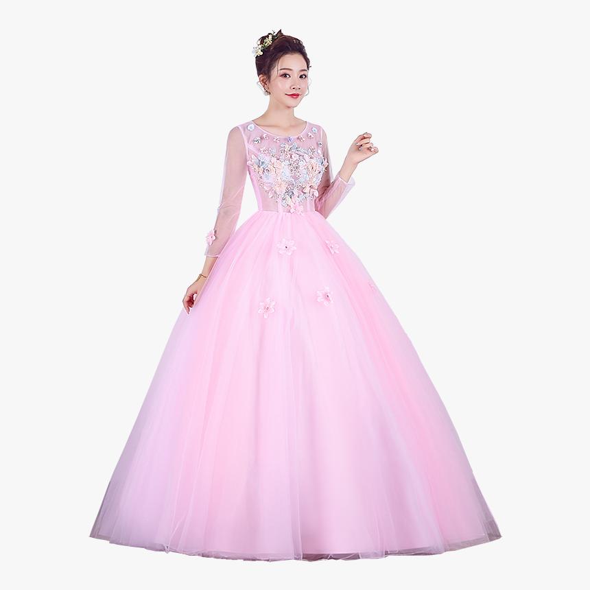 Vestidos De Quinceañera Rosa Con Dorado, HD Png Download, Free Download