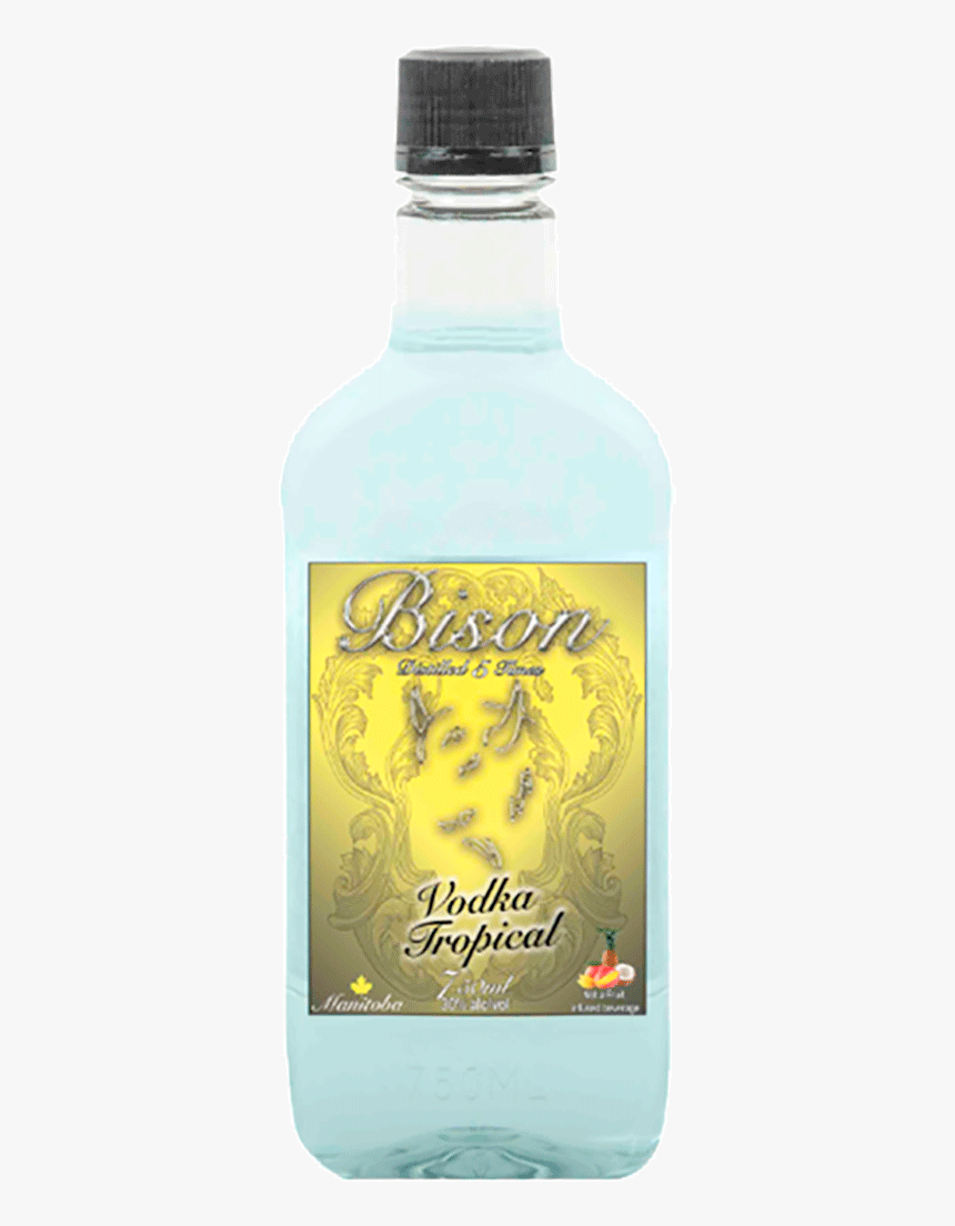 Bison Tropical Vodka 750 Ml - Water Bottle, HD Png Download, Free Download