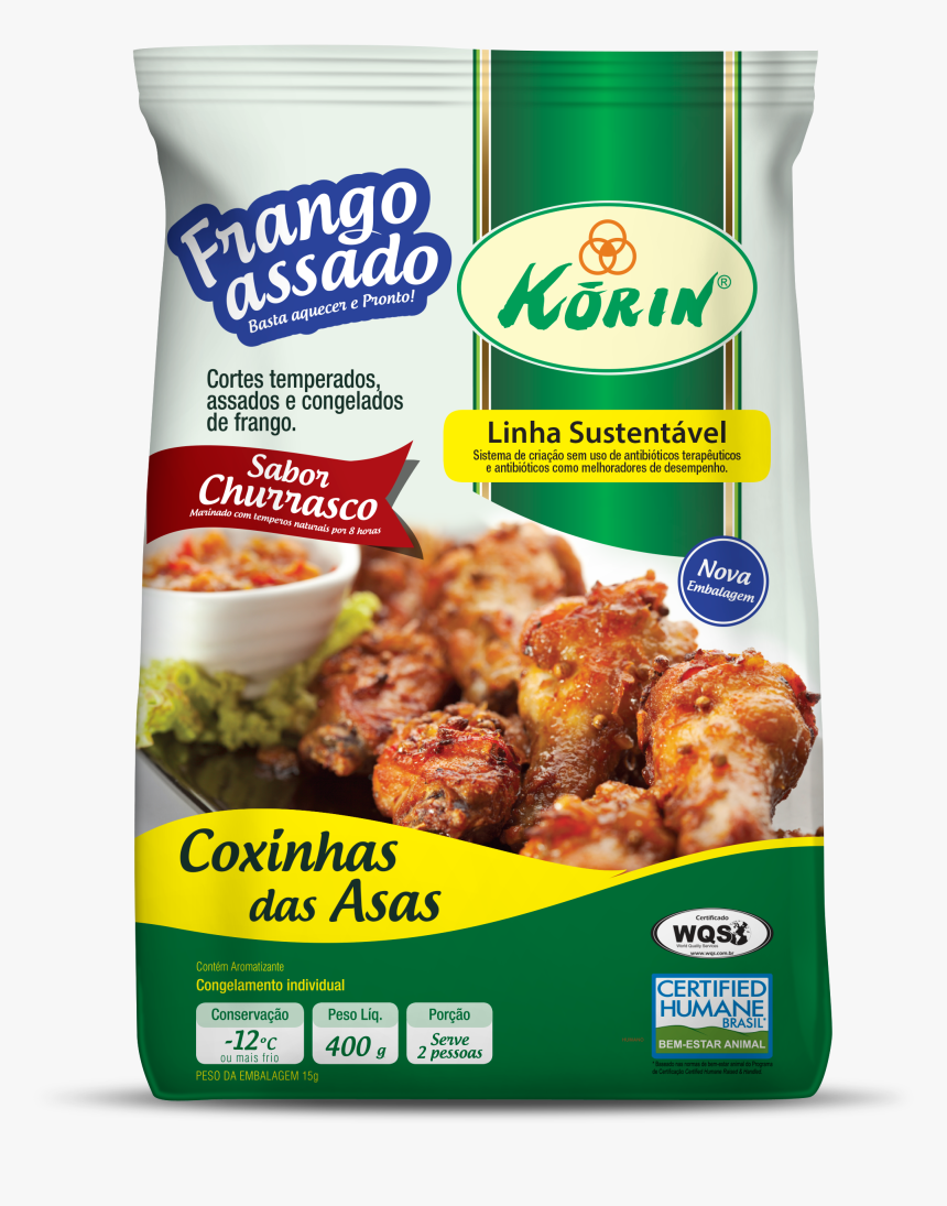 Korin Frango Assado Churrasco Sobrecoxas Korin Frango - Korin, HD Png Download, Free Download