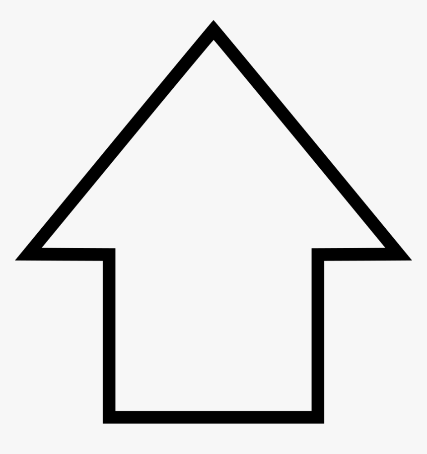 Up Arrow Point - Point Up Arrow Png, Transparent Png, Free Download
