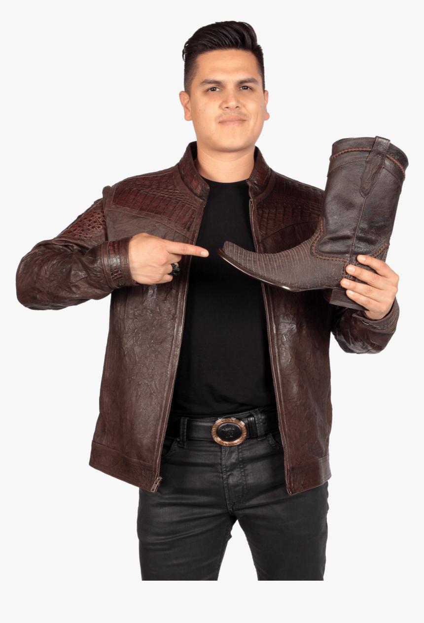 Transparent Botas Vaqueras Png - Leather Jacket, Png Download, Free Download
