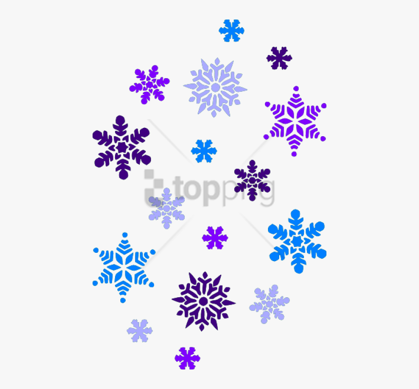 Free Png Download Falling Snowflake Png Images Background - Clip Art Snow Flakes, Transparent Png, Free Download