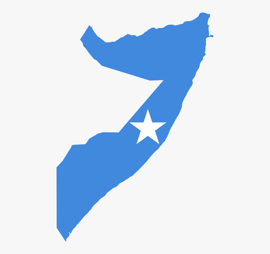 Banner Royalty Free Stock Africa Svg Shape - Somalia Map With Flag, HD Png Download, Free Download