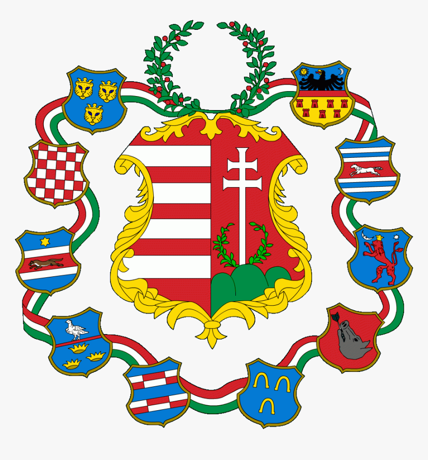 Hungary Large Coa 1849 - უნგრეთის გერბი, HD Png Download, Free Download