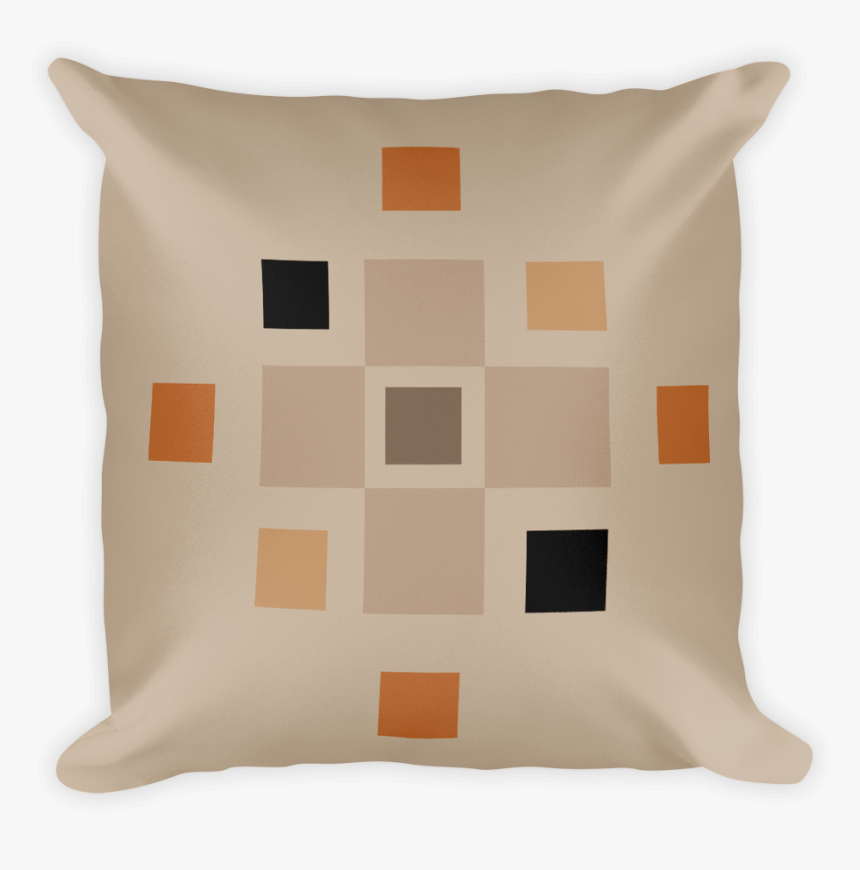 Buff Coloured Cushion With Modern Squares Design - Cushion, HD Png Download, Free Download