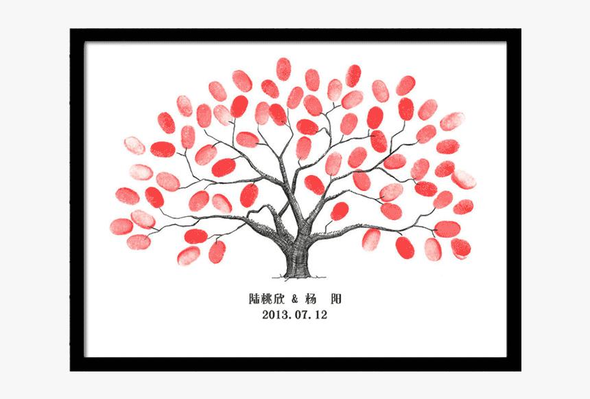 Green Fingerprint Tree, HD Png Download, Free Download