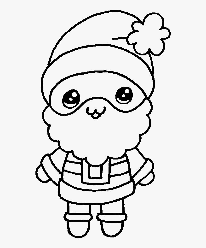 Papa Noel Kawaii Dibujando Con Vani Dibujos De Papá Noel Paso A Paso Hd Png Download Kindpng