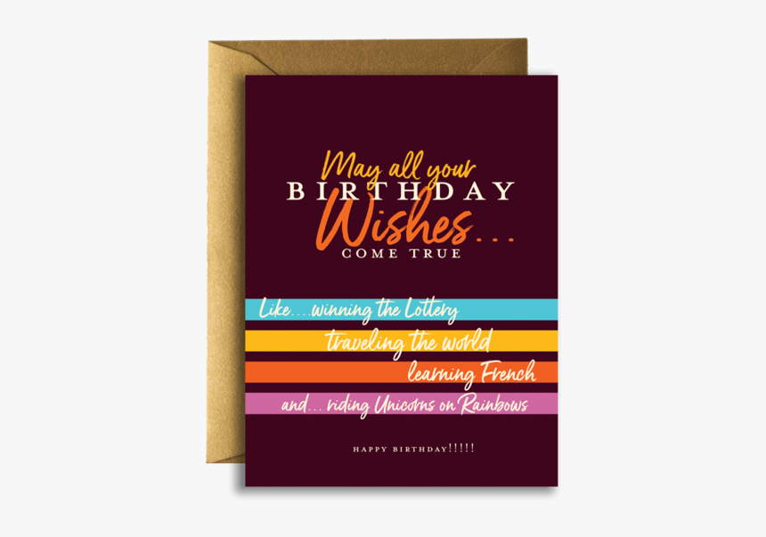 Birthday Wishes Greeting Card - Greeting Card, HD Png Download, Free Download