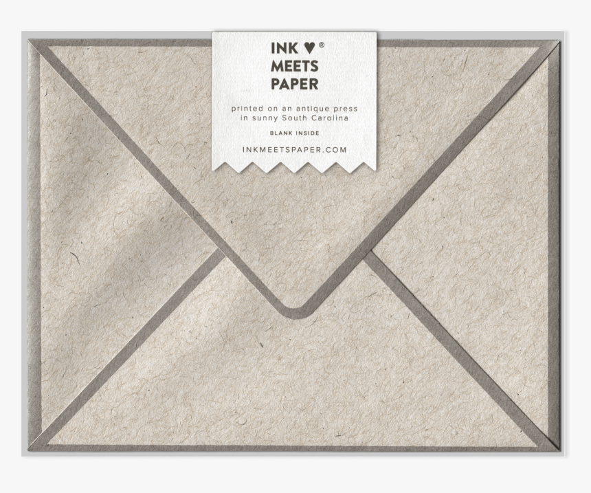 Letterpress Greeting Card Back View - Sketch Pad, HD Png Download, Free Download