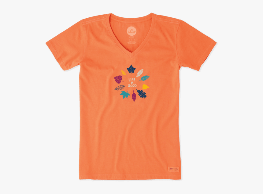 """Women""""s Leaf Circle Crusher Vee - Active Shirt, HD Png Download, Free Download"""