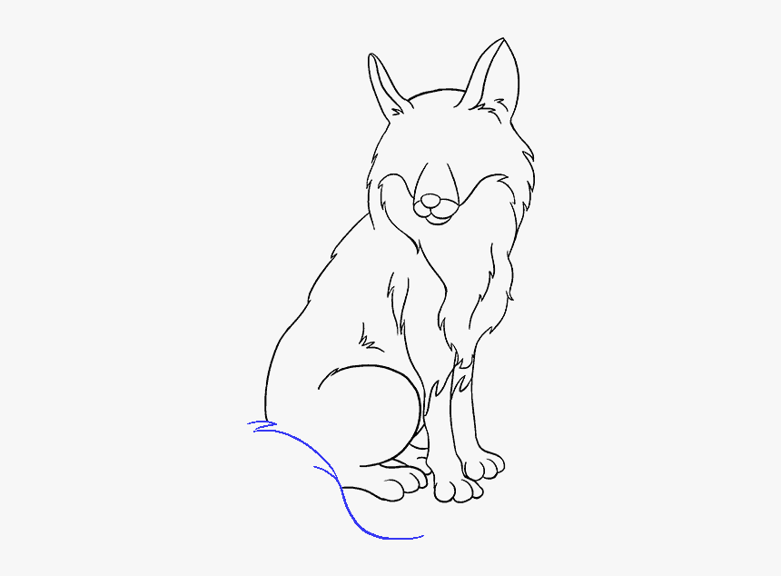 How To Draw Fox - Easy Drawing Fox Sketch, HD Png Download, Free Download