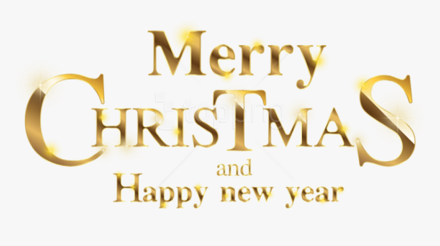 Free Png Merry Christmas Gold Transparent Png - Gold Merry Christmas Png, Png Download, Free Download