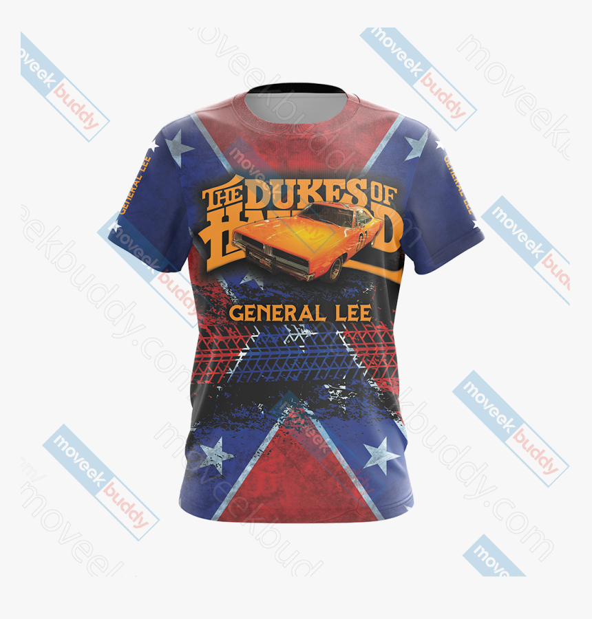 The Dukes Of Hazzard General Lee Unisex 3d T-shirt - Active Shirt, HD Png Download, Free Download
