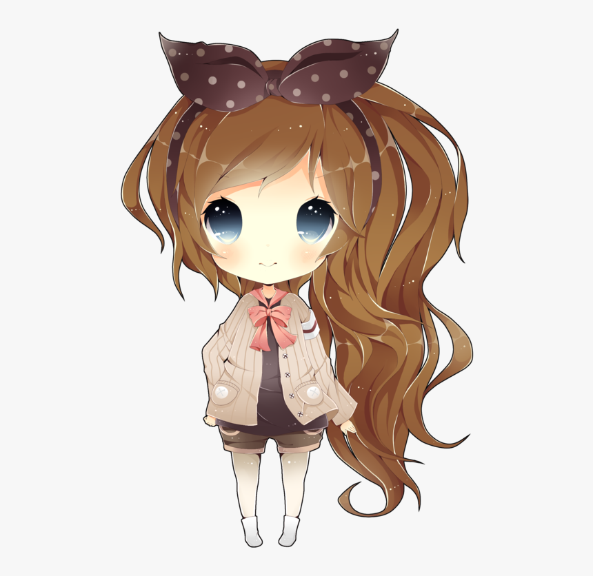 Art Trade With Jellydrop By Eo21 - Chibi Cute Kawaii Girls, HD Png Download, Free Download