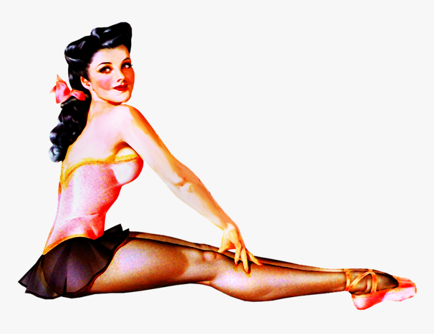 Pin Up Girl Sexy Woman Retro 1940s 1950s- - Sexy 1940s Pin Up, HD Png Download, Free Download