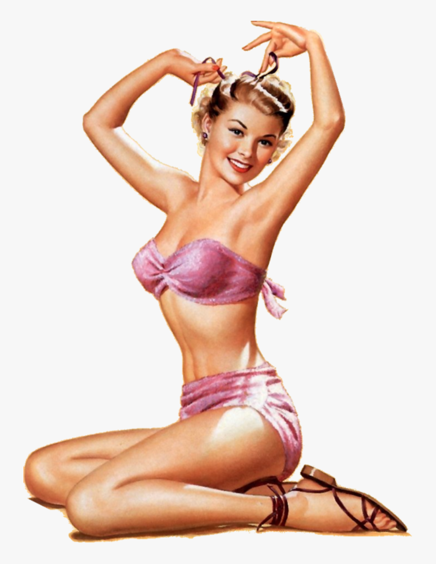 Transparent Sexy Girl Png - 1950s Pinup Girl, Png Download, Free Download