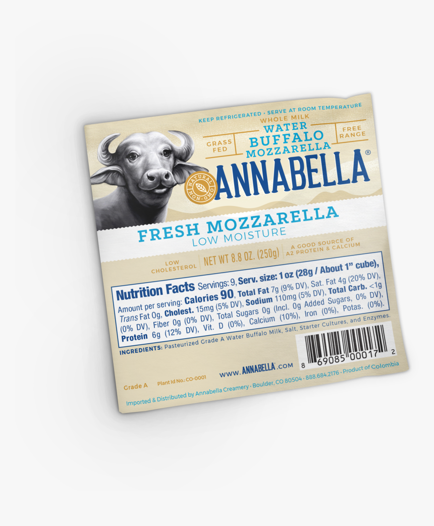 """Water Buffalo Mozzarella Rich In High Quality A2 Protein""""  - Weimaraner, HD Png Download, Free Download"""