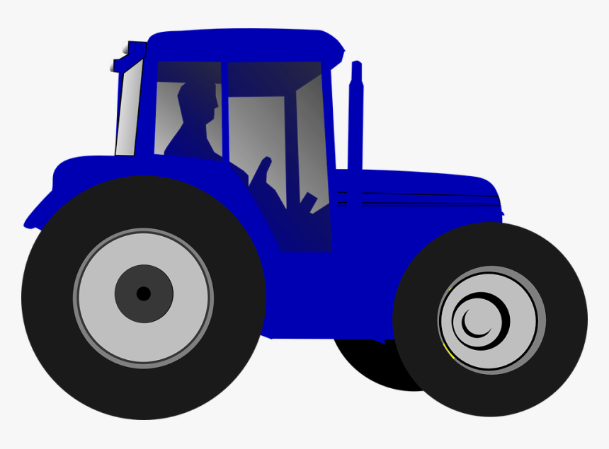 Transparent Tractor Clipart - Clipart Blue Tractor, HD Png Download, Free Download