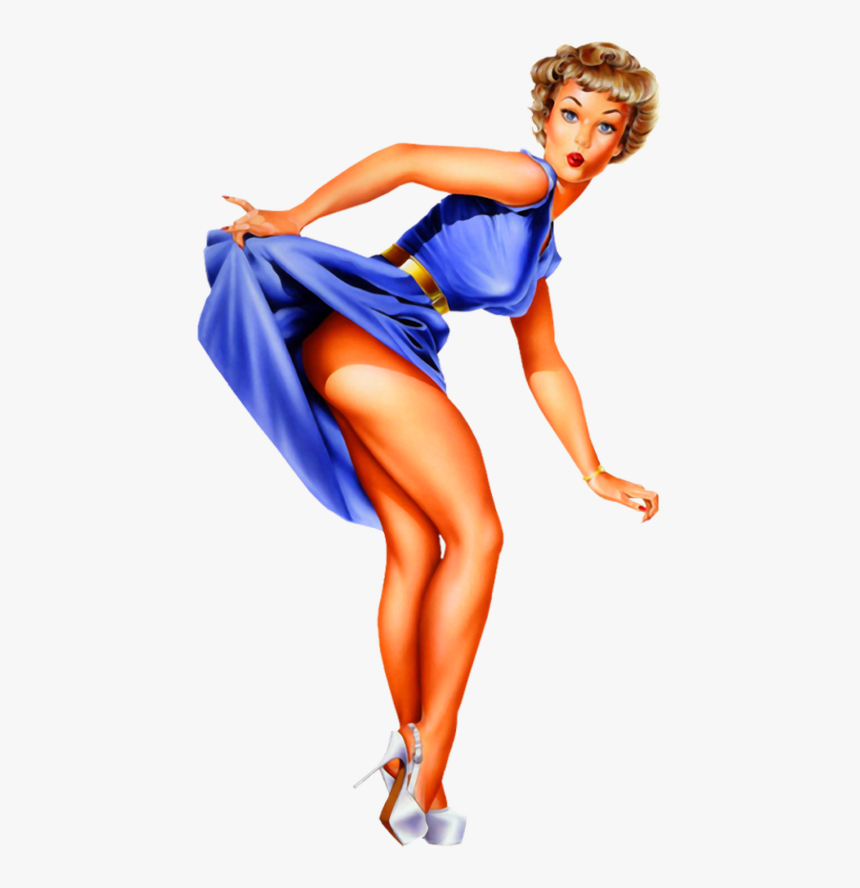 Pin Up Girl Sexy Woman - Pin-up Model, HD Png Download, Free Download
