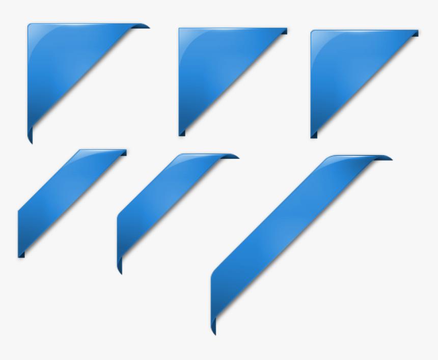 Transparent Navy Blue Ribbon Clipart - Png Corner Ribbon, Png Download, Free Download