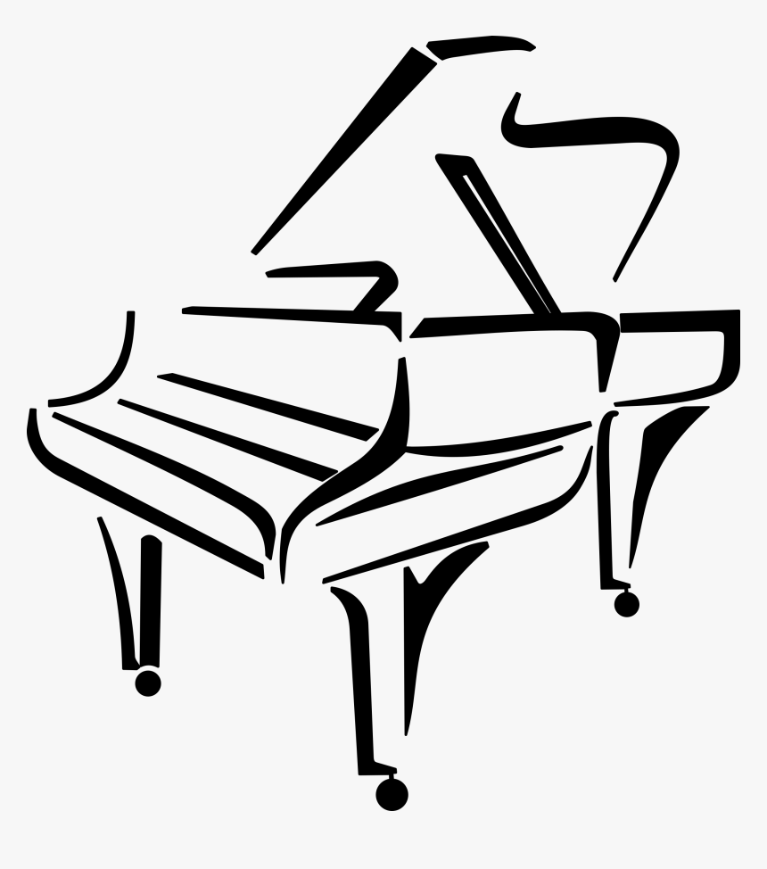 Keyboard Clipart Paino For Free Download And Use In Clip Art Piano Black And White Hd Png Download Kindpng