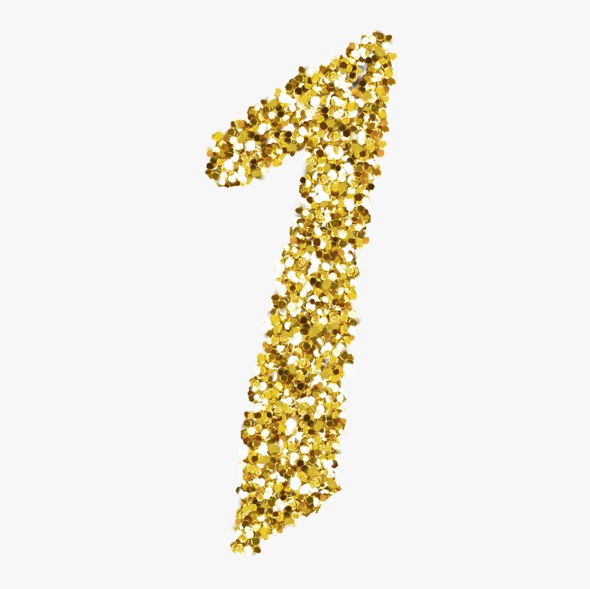 #1 #gold #glitter #sparkle - Number 1 Glitter Png, Transparent Png, Free Download