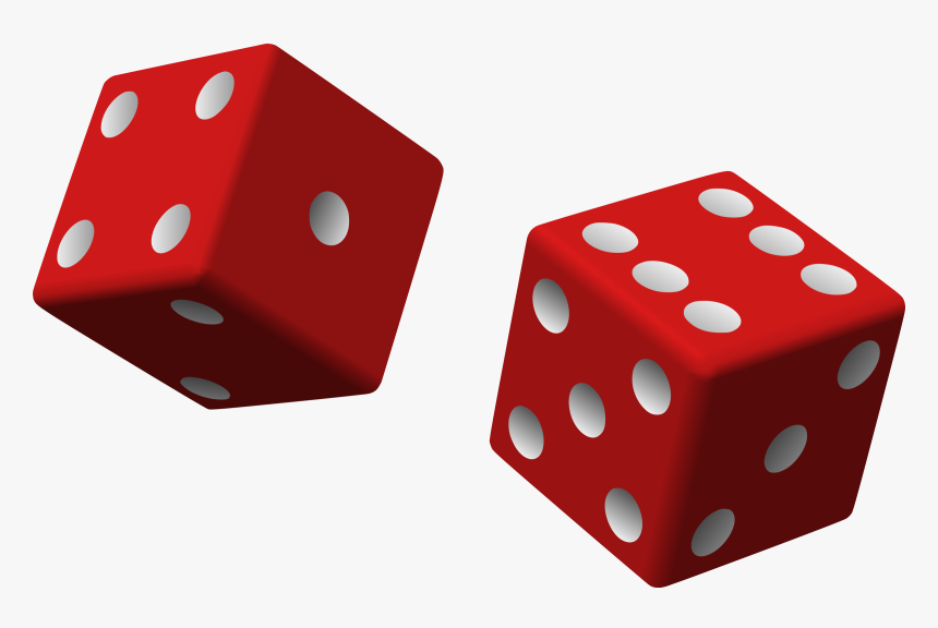 Two Red Dice - Red Dice Png, Transparent Png, Free Download